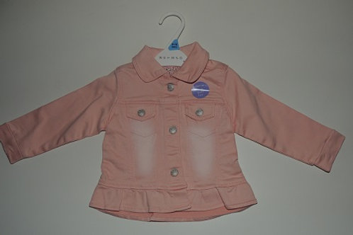 Denim Look Soft Feel Jacket Pink