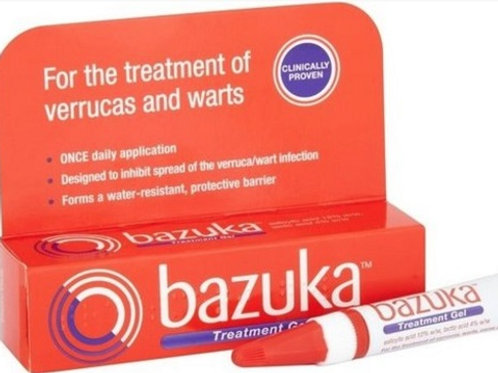 Bazuka Treatment for Verrucas and Warts