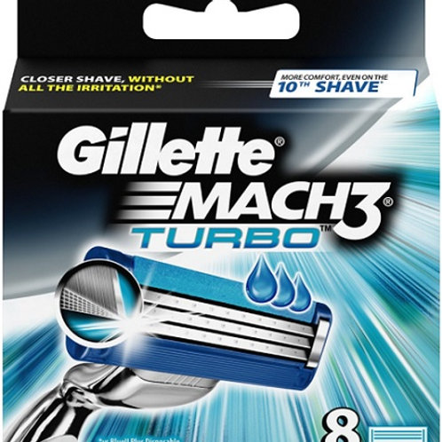Gillette Mach3 Turbo Razor Blade refills deliver a close shave, without all the redness, while feeling better after the 10th