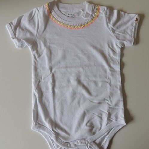Patterned Collar Baby Bodysuit  100% Cotton Baby Bodysuit.  Available in size 1-2 Years / 86-92cm