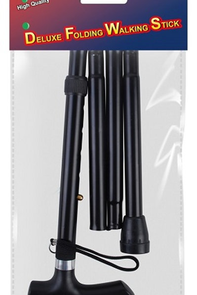 Folding Walking Stick foldable for easy transport, for taking on trains, planes, cars and holidays