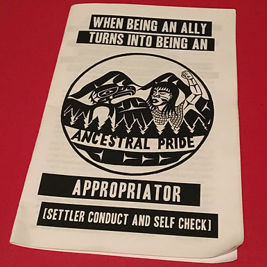 When being an ally turns into being an appropriator: settler conduct and self check