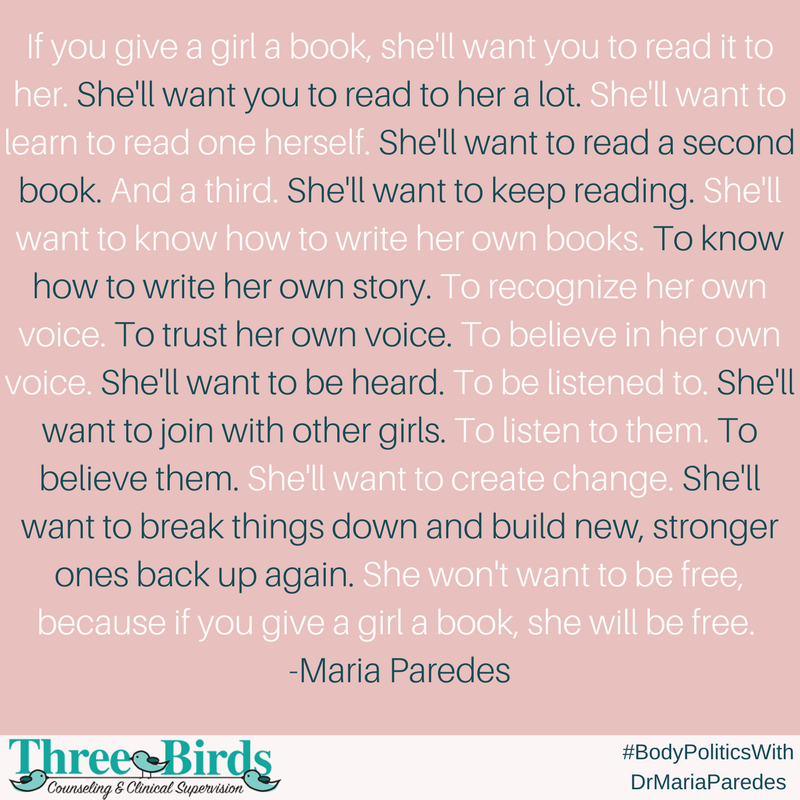If You Give a Girl a Book, by Maria Paredes