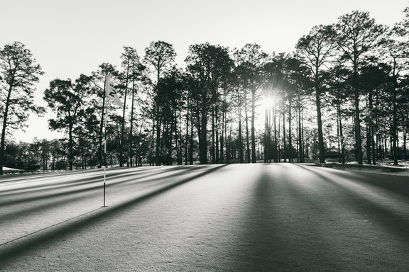 Pinehurst Sunrise BW