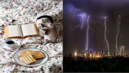 Um café, minha cama e a tempestade lá fora