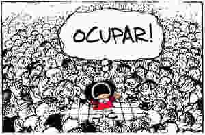 1 Olhar, charge Mafalda
