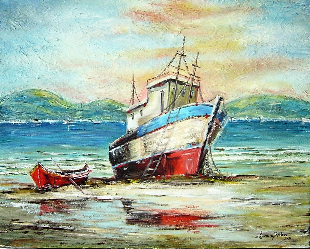 barcos na praia, 1 olhar