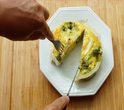 Tortinha de legumes (massa de inhame)