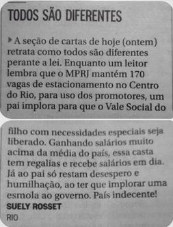 Suely Rosset: Do jornal O Globo para 1 Olhar!