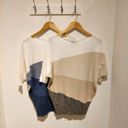 Marble Knitted Batwing Top