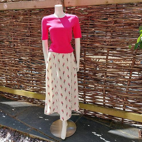 Floral Tulip Print Skirt