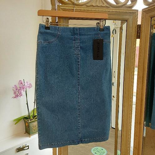 Robell stretch denim skirt