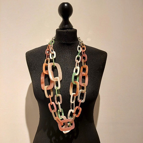 Long Resin Statement Necklace