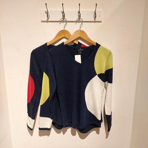 Marble Circle Design Sweater