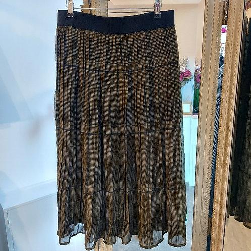 Fransa - midi chiffon check skirt