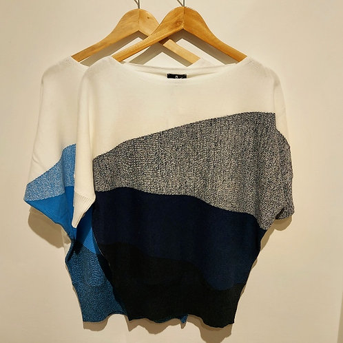 Marble - Chic Cotton Batwing Top