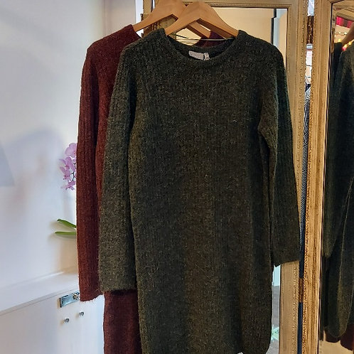 Fransa - Fluffy Casual Knit Dress