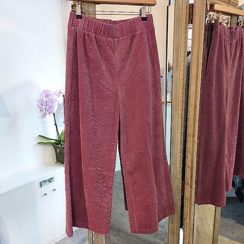 Wide leg jumbo cord trousers