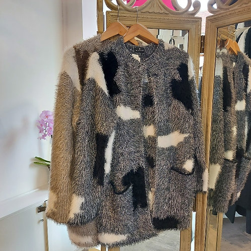 Marble - Fluffy Knitted Shacket