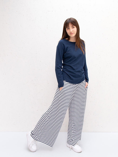 Luna Wide Leg Jersey Pant