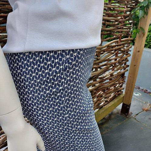 Robell Rose Chain Print Ankle Grazer Trouser