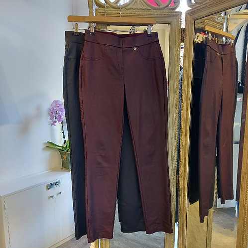 Robell - Rose faux leather trousers
