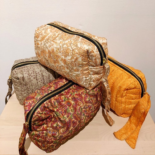 Quilted Silk Pouches