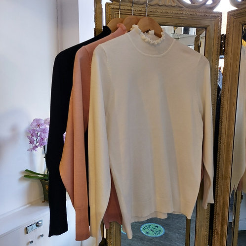 Sunday - Frill Turtleneck Sweater