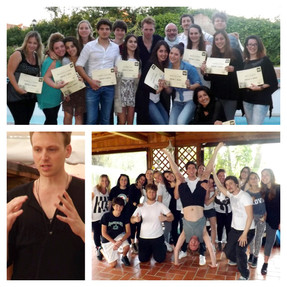 Leo teaches a Musical theatre Seminar in ROME ITALY!!!!