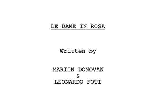 So honored to have co-authored this little gem of a screenplay with the GREAT MARTIN DONOVAN!