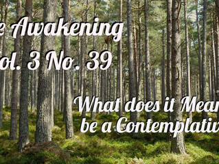 Awakening: What Does It Mean to Be Contemplative?