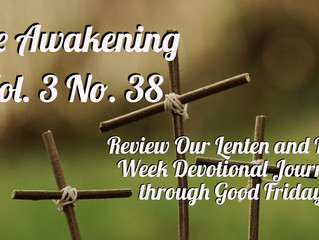 Awakening:  A Review of This Year's Lenten Journey