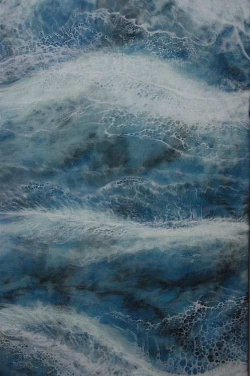 Ocean wave resin art picture from Elysian Designs