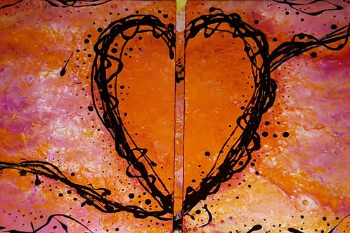 Broken heart resin art work from Elysian Designs