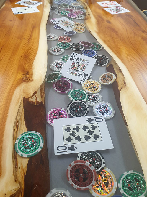 Custom poker table by Elysian Designs Lincoln