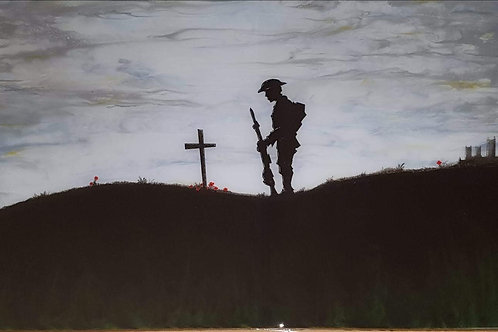Soldier picture in resin by Elysian Designs, Lincoln