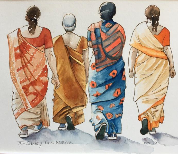 Saree walking group.