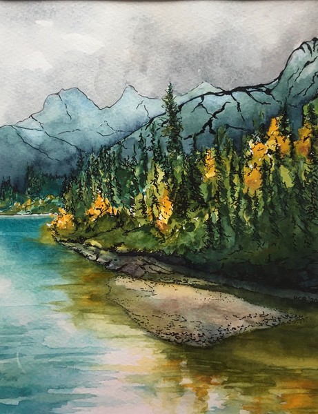 Larches in the Rockies