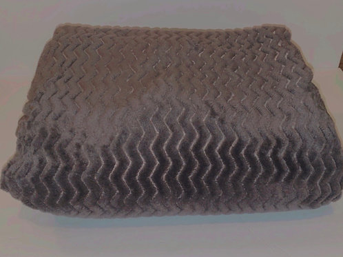 Charcoal Plush Throw Blanket