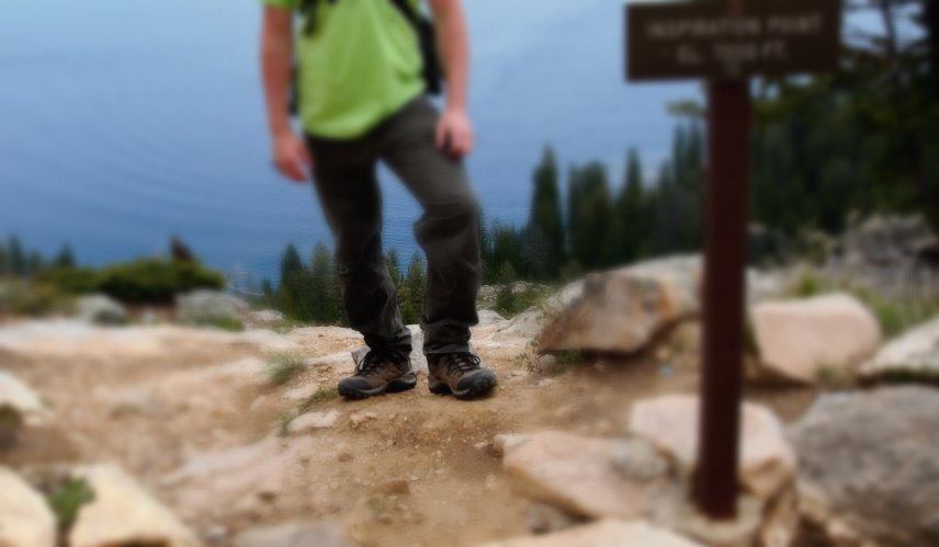 Traditional hiking botos in action at Grand Teton National Park.