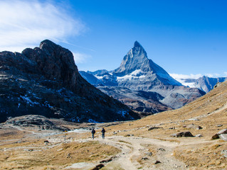 The legendary Matterhorn and the beautiful Swiss town of Zermatt.
