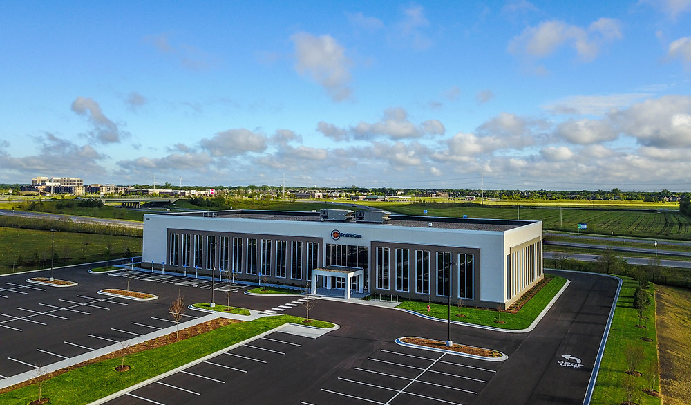 Drone photo of a new building my work just opened.
