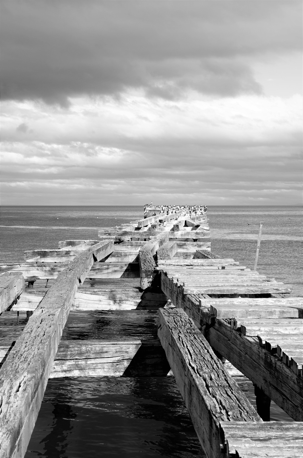 An old dock off the shoreline of Punta Arenas