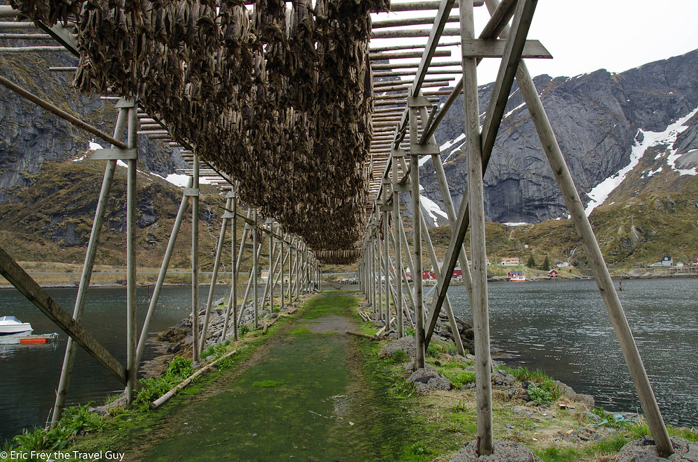 Hjell, or fish drying racks in Norway.