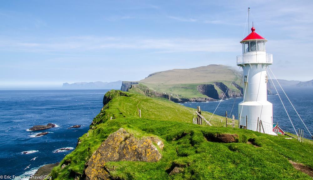 Mykines Lighthouse in the Faroe Islands