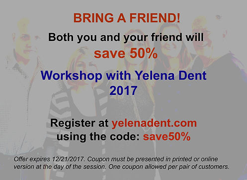 workshop coupon yelenadent.com