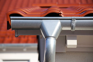 Roof gutter on a new tiled roof.jpg