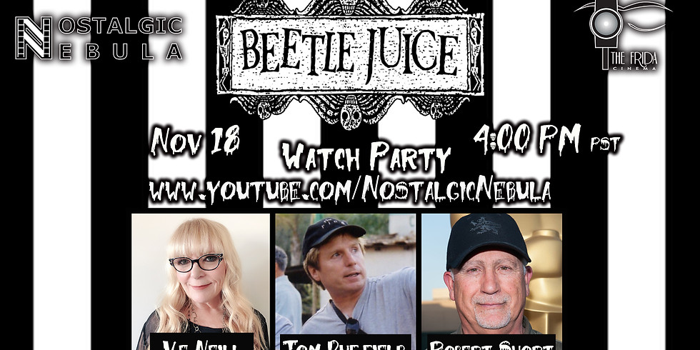 Beetlejuice (1988) YouTube Watch Party/ Reunion w/ Ve Neill, Tom Duffield & Robert Short