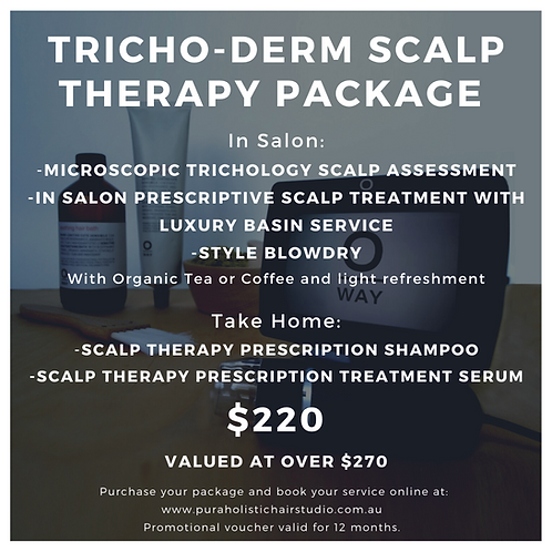 Tricho-Derm Scalp Therapy Treatment Package