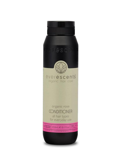 Organic Rose Conditioner - All Hair Types for Everyday Use